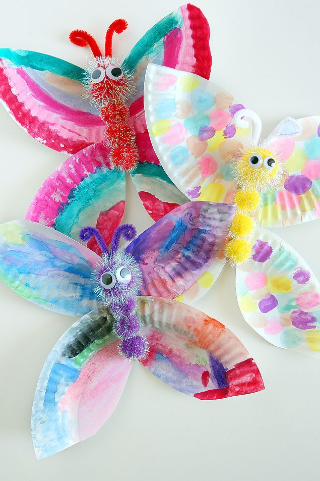 Paper Plate Butterfly Craft Kids Craft Ideas Paper Crafting