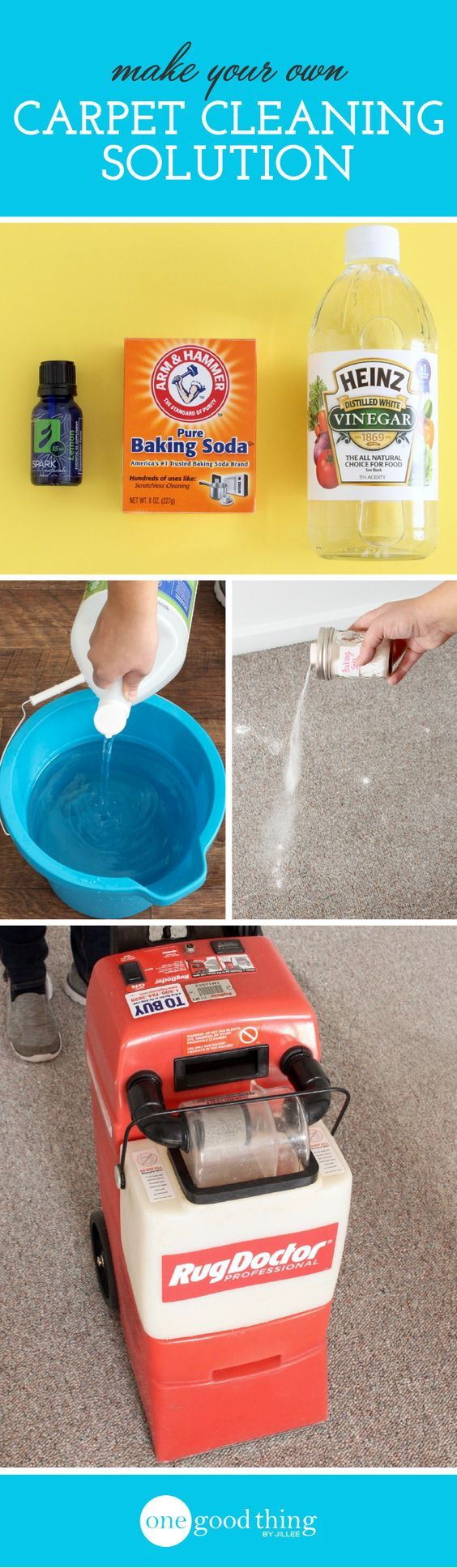 Whether you own or rent your carpet cleaning machine, this all-natural homemade carpet cleaning solution will ensure that your carpets get a deep clean.