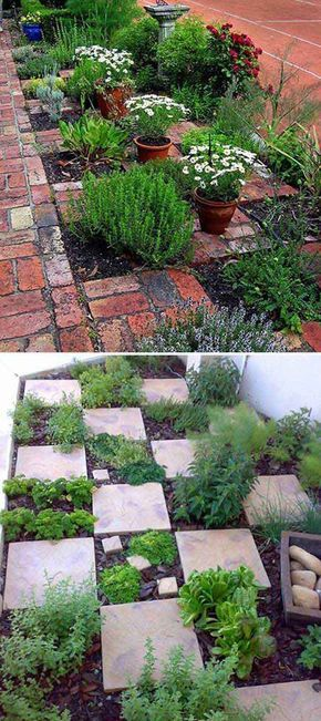 The Checkerboard Herb Garden. Even if it rains you can get to your herbs. 22 Ways for Growing a Successful Vegetable Garden
