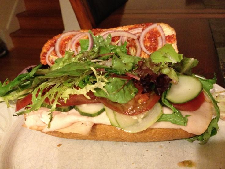 Turkey and veggie sandwich with Harissa | Food We've Made | Pinterest