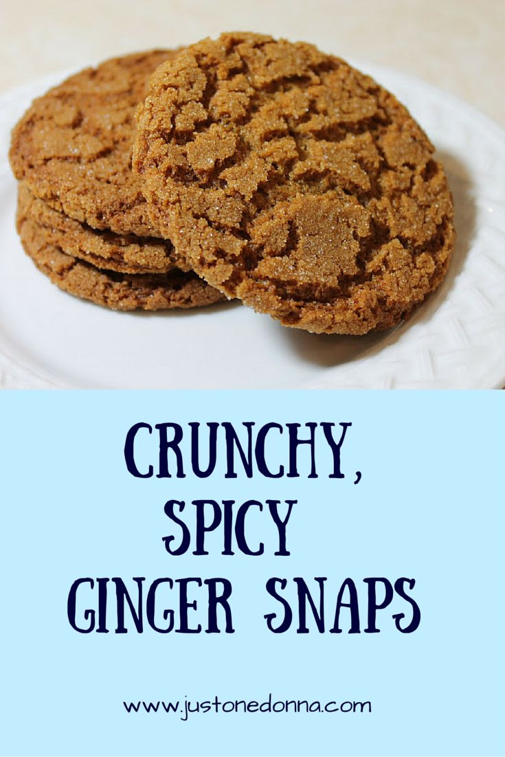 These crunchy, spicy ginger snaps are a perfect cookie all year round. Great for lunch boxes, holiday cookie trays and summer ice cream sandwiches.