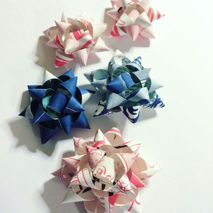 Risograph gift bows