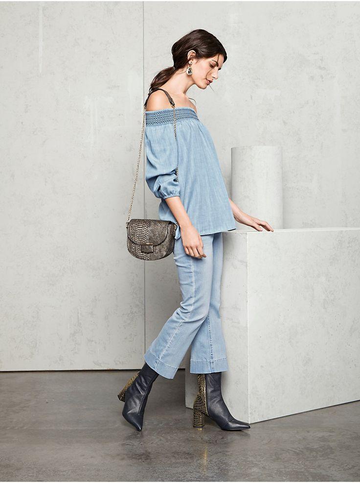 B.C. Best Connections by heine - Flared-Jeans verkürzte Form bleached im heine Online-Shop ➤ Jetzt günstig bestellen auf heine.de