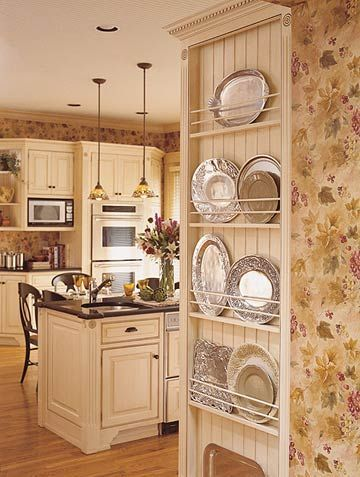 An Open Plate Rack is a great idea for the side of a refrigerator that might oherwise go un-used. A nice spot for those in-frequently used but pretty platters: