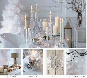 Decor: Silver Christmas, Christmas Tables Sets, Winter White, Winter Wonderland, White Decor, White Christmas, Holidays, Christmas Decor, Christmas Ideas