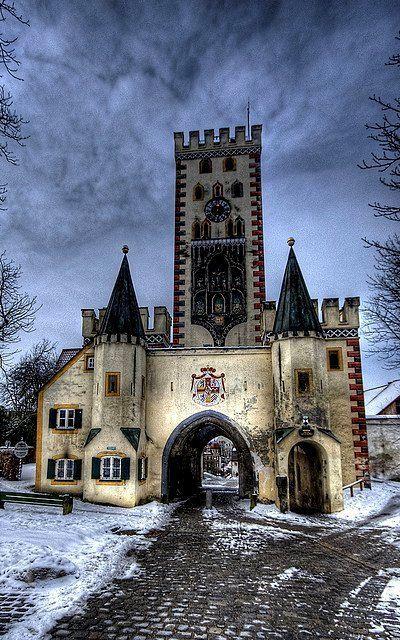 Bayertor Gate ~ Landsberg am Lech, Bavaria, Germany   Flickr - Photo by silverlarynx