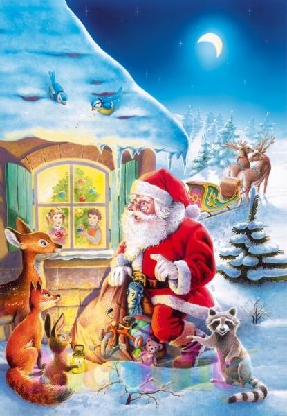 Puzzle Moş Crăciun - 500 piese
