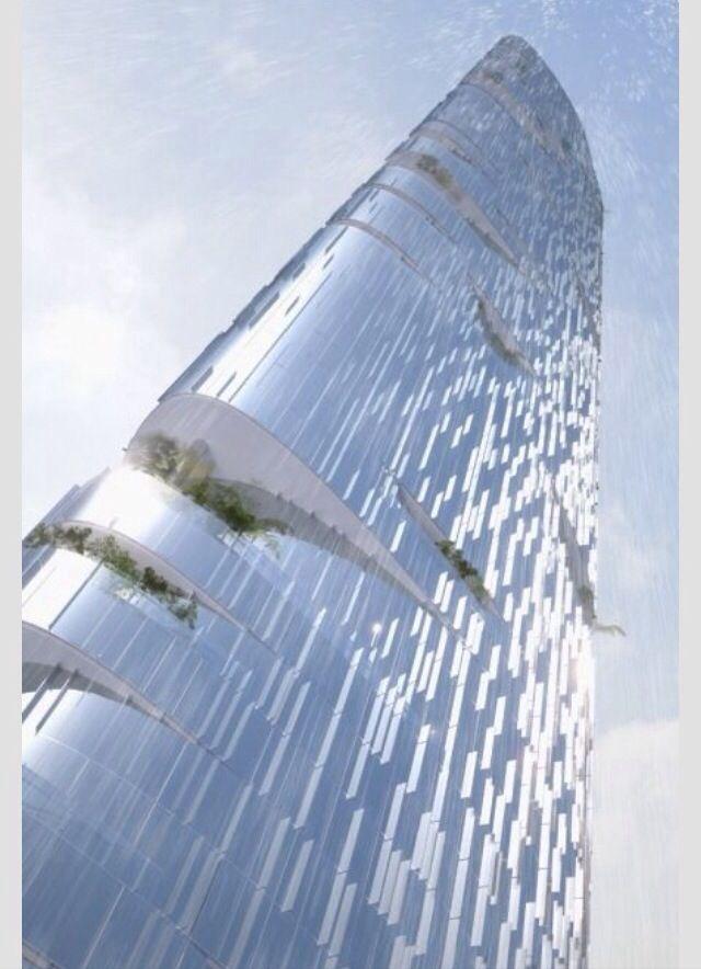 Modern skyscrapers | #urban #design #modern #elevation #facade #renders #architects #exteriors #futuristic