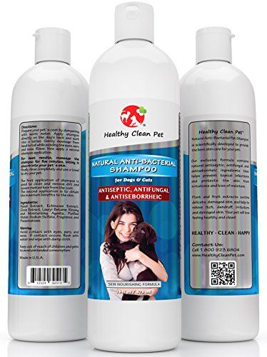 Medicated Dog Shampoo 100% Natural -Antifungal Helps Relieve Skin Infections, Scaly, Itchy and Irritations - Antibacterial Shampoo for Dogs and Cats, 16 oz -by Healthy Clean Pet *** Want additional info? Click on the image.