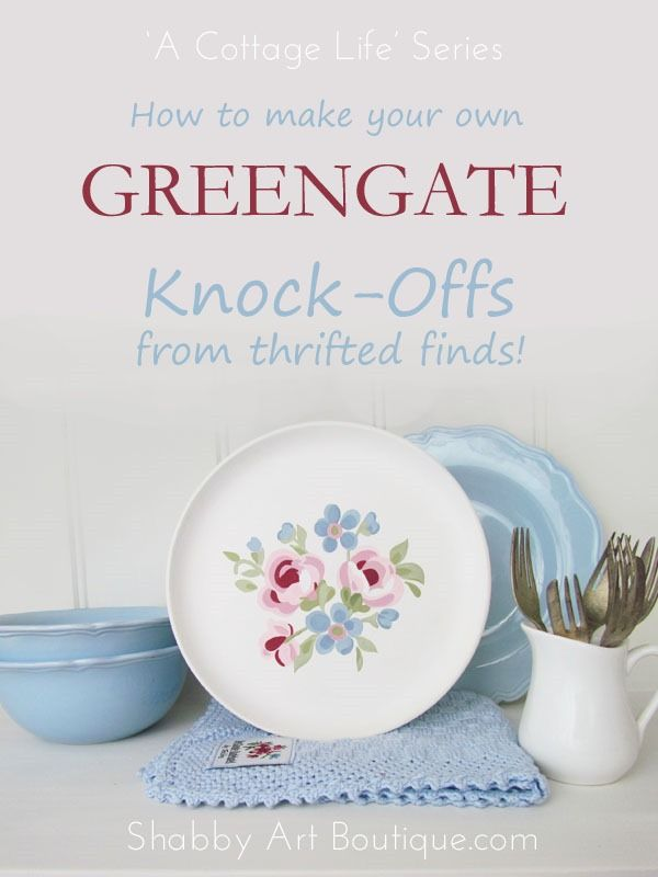 A Cottage Life ~ DIY GreenGate - Shabby Art Boutique