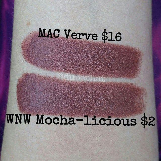 MAC Lipstick - Verve   DUPE: Wet n Wild Mega Last Lipstick - Mocha-licious