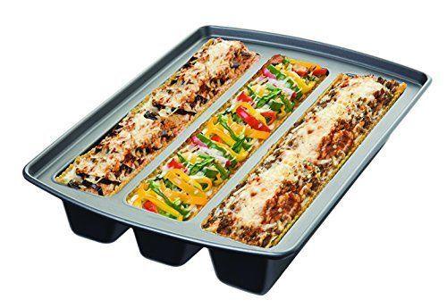 Lasagna Trio Pan Metallic Non Stick Bakeware Home Baking Dishwasher Safe Silver  #CHICAGOMETALLIC