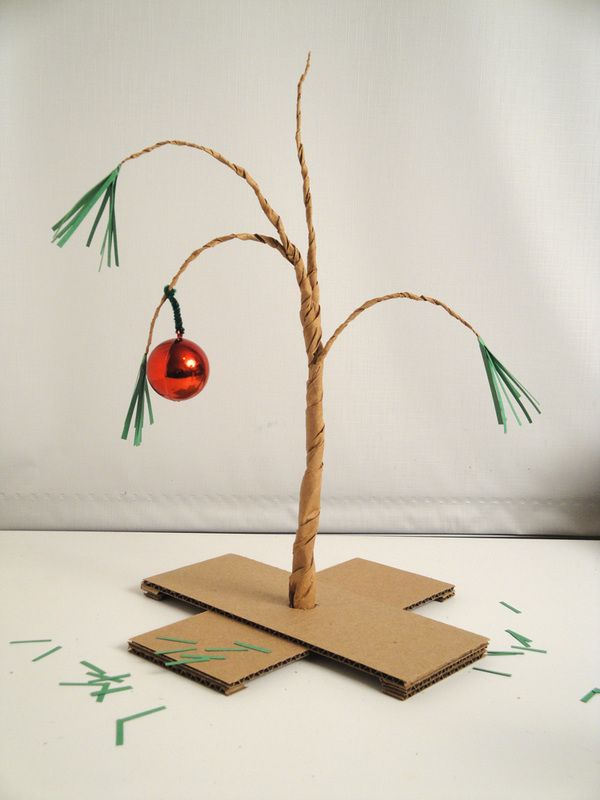 How to make your own Charlie Brown Christmas Tree from paper.
