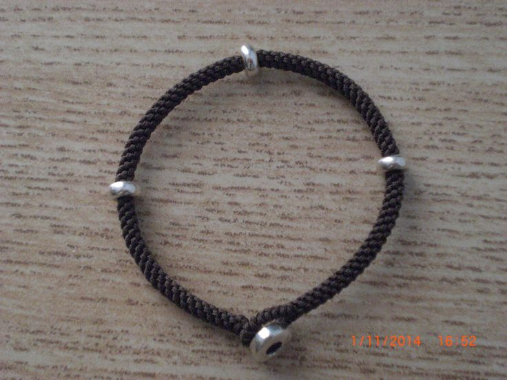 Bracelet with silver washers.