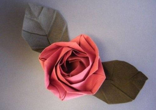 Оригами Роза - Evi Rose по схеме Evi Binzinger