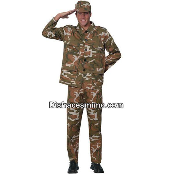 DisfracesMimo, disfraz militar hombre adulto.Con este disfraz de Soldado militar para adulto serás un auténtico militar. Estarás preparado para dar mucha guerra en Halloween , Carnavales o Fiestas Temáticas.