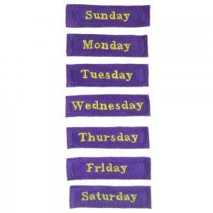 dias da semana em ingles para recortar