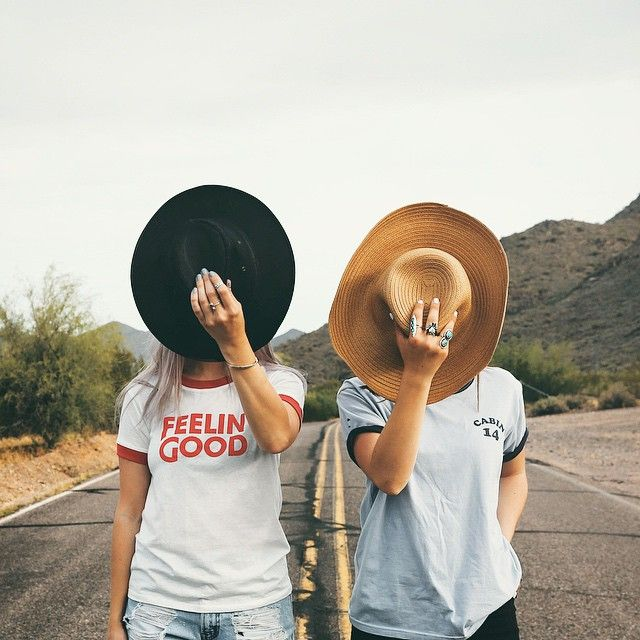 Cute...but different outfits with our hats and maybe horses in the background.. or rodeo grounds..that would be cool...