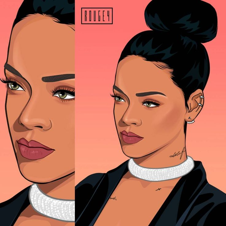 I love this art!! 💗Rihanna art graphicdesign (With