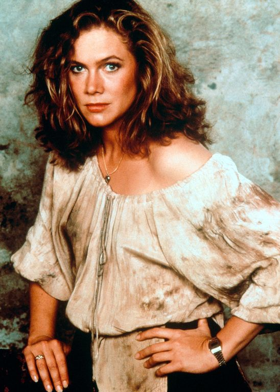 Kathleen Turner, Romancing the Stone....so love that movie. Best line---Write us out this one Joan wilder.