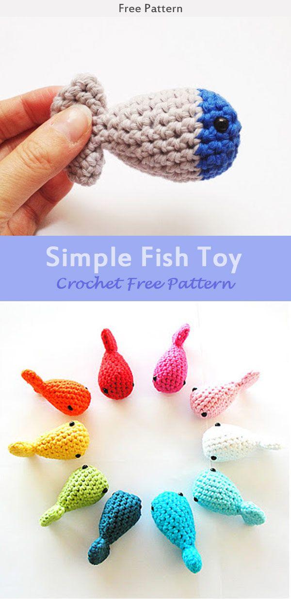 Simple Fish Toy Crochet Free Pattern Crochet Cat Toys Crochet Fish Patterns Crochet Toys Patterns