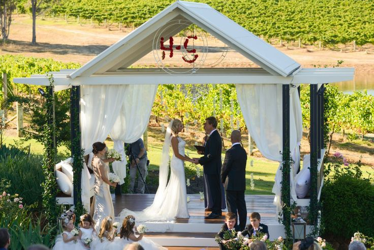 Wedding Arbour at Aravina Estate 1st of March 2014. Styling and planning by http://www.evokeweddings.com.au