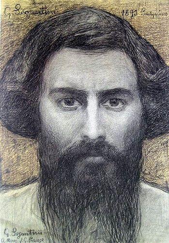 giovanni segantini, self-potrtrait, 1893