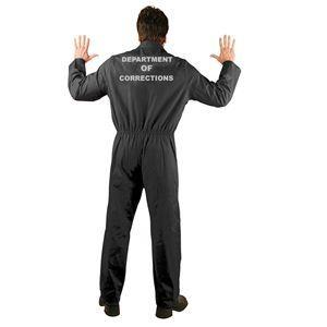 Prison Department of Corrections Adult Unisex Costume - 396585 | trendyhalloween.com