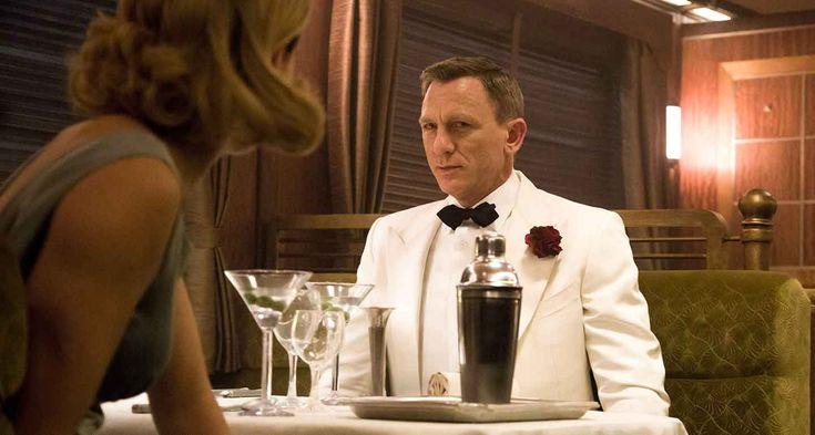 James Bond Daniel Craig White Tuxedo