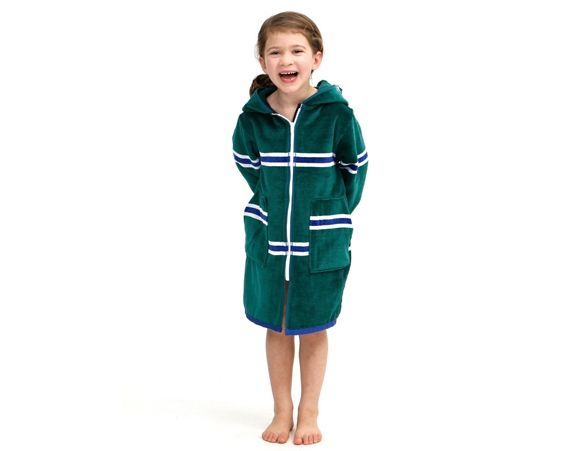 TERRY RICH - Lux swim robe. Childrens bathroom,swim, towel robe. Made in Australia.
