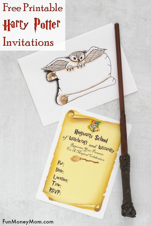 Diy Harry Potter Invitations You Can Print From Home Harry Potter Invitations Harry Potter Birthday Invitations Harry Potter Party Invitations