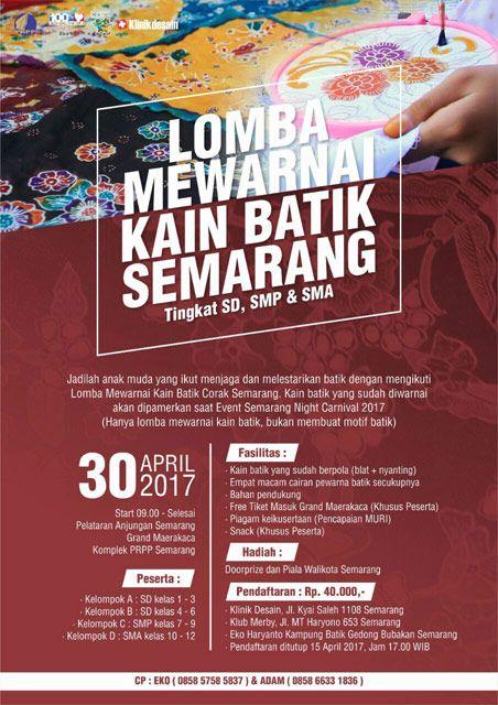 Lomba Mewarnai Kain Batik Semarang