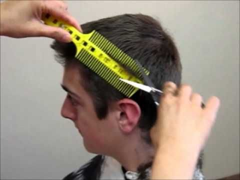 How to Cut Men's Boy's Hair Short Tutorial - Combpal Scissor Clipper Over Comb Guide Video 1