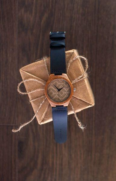 Holz Uhr Bambus Holz Uhr Holz-Armbanduhr mit Leder von WOODEER auf DaWanda.com