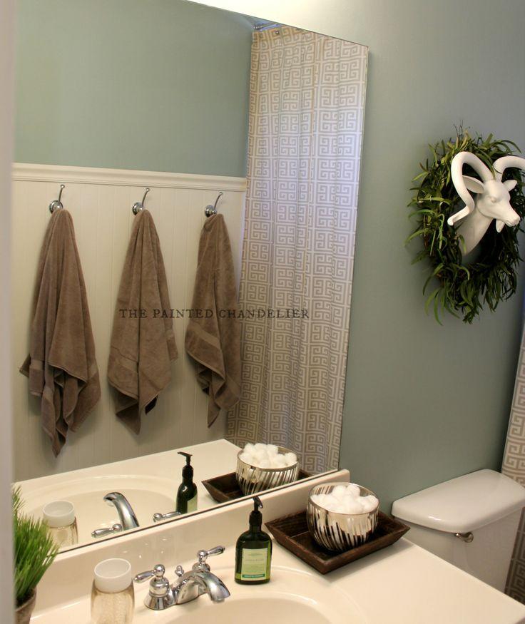 Silvermist By Sherwin Williams Teen Boysu0027 Bathroom Makeover