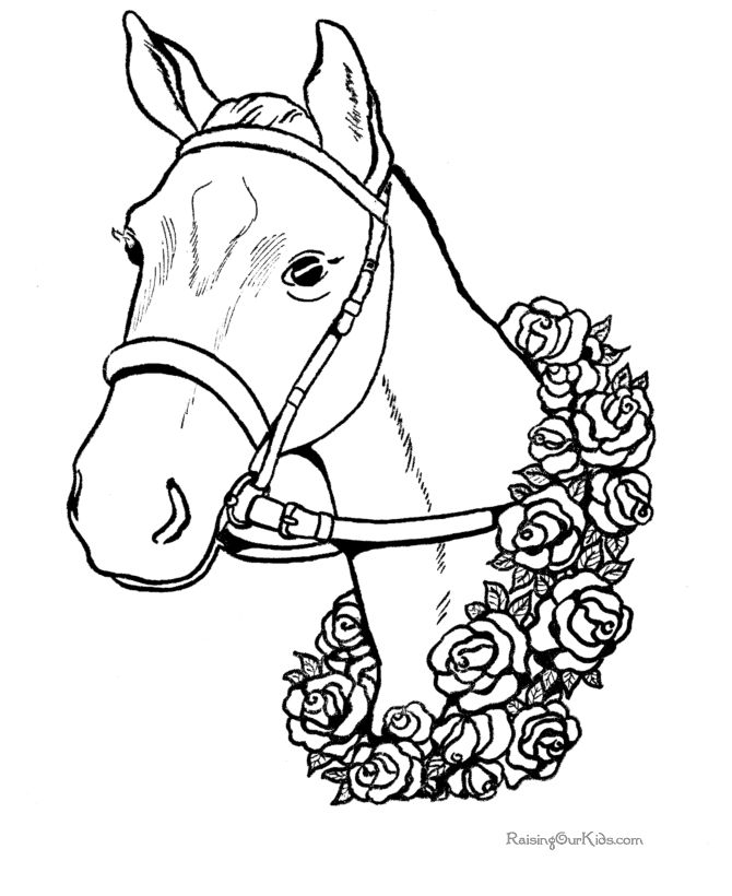 Free printable animal coloring sheets - Horse