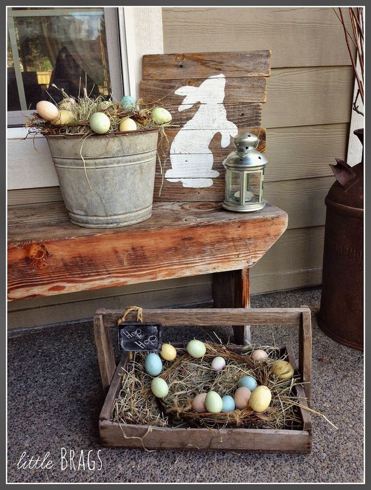 Little Brags: Our Easter Porch