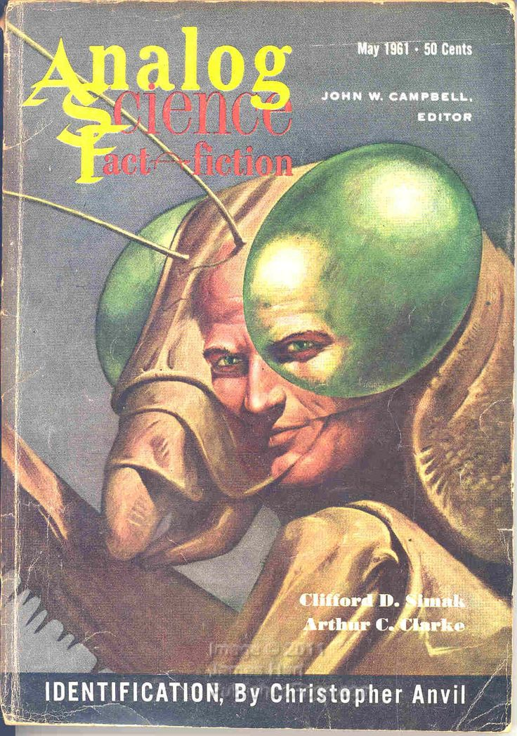 John Schoenherr's cover for the May 1961 issue of Analog Science Fiction / Science Fact.