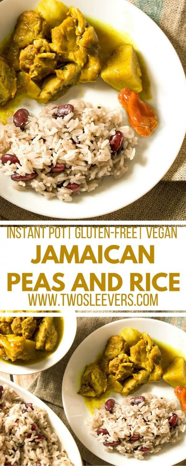 Make authentic Jamaican Peas and Rice at home in a flash with your Instant Pot! This recipe follows a nontraditional way to get you traditional taste, Jamaican Peas and rice| Instant Pot Peas and Rice | Vegan| Kidney beans and Rice| Pressure cooker peas and rice| via @twosleevers