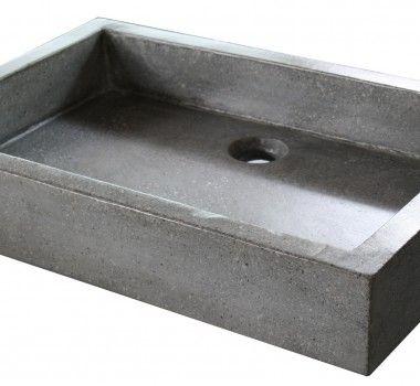 vasque terrazzo grise 40x60x10