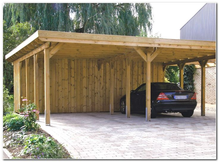 Wood carports with storage photo for Timber carport plans
