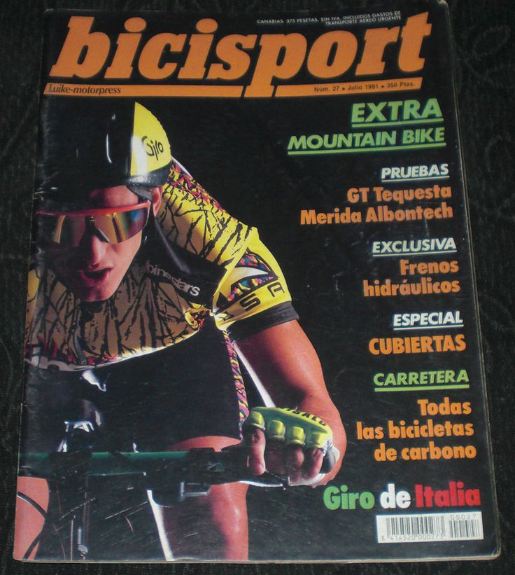 Revista Ciclismo Bicisport N 27 Julio 1991 Pruebas Frenos Cubiertas todo carbono