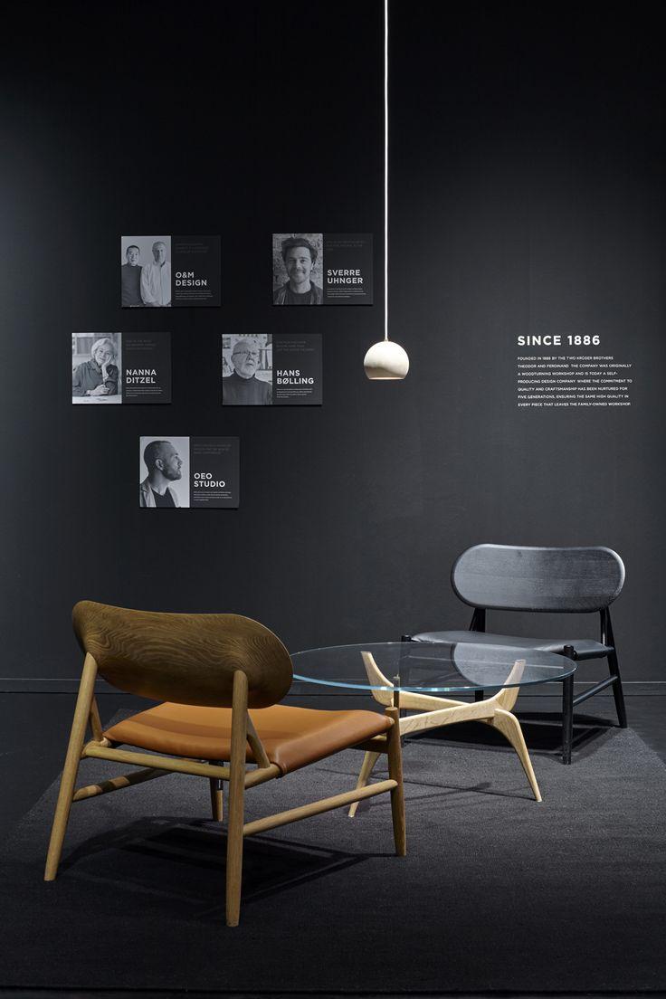Brdr. Krüger: TRIIIO Table, Ferdinand lounge chair and Lune Lamp. #brdrkruger #hansbølling #sverreuhnger #oeostudio #furniture #interiordesign