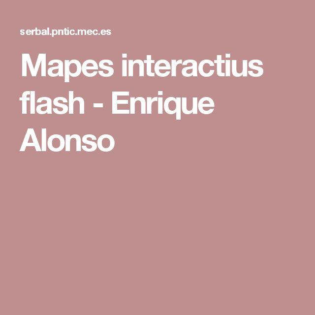 Mapes interactius flash -  Enrique Alonso