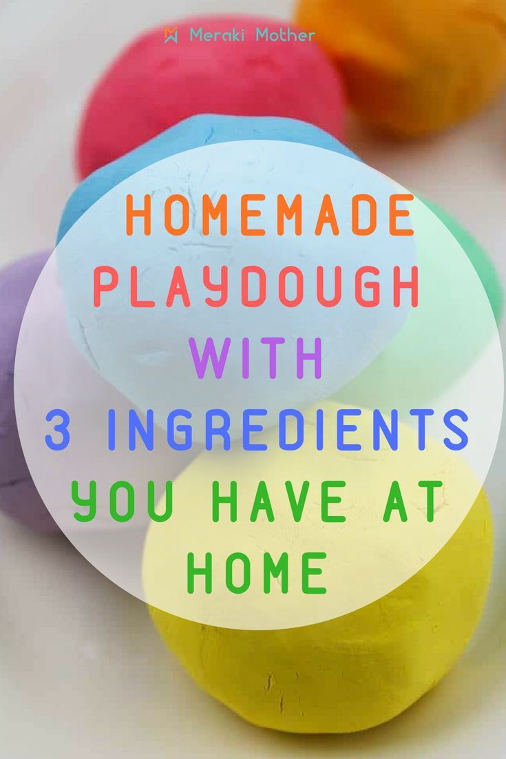 Easiest Playdough Without Cream Of Tartar 3 Simple Ingredients Easy Playdough Recipe Easy Homemade Playdough Recipe Homemade Playdoh