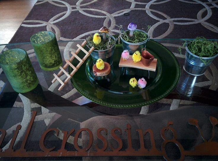 Spring Easter table decor peep party!