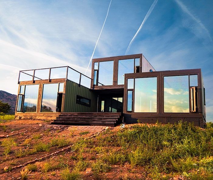 An Off-the-Grid Shipping Container Cabin