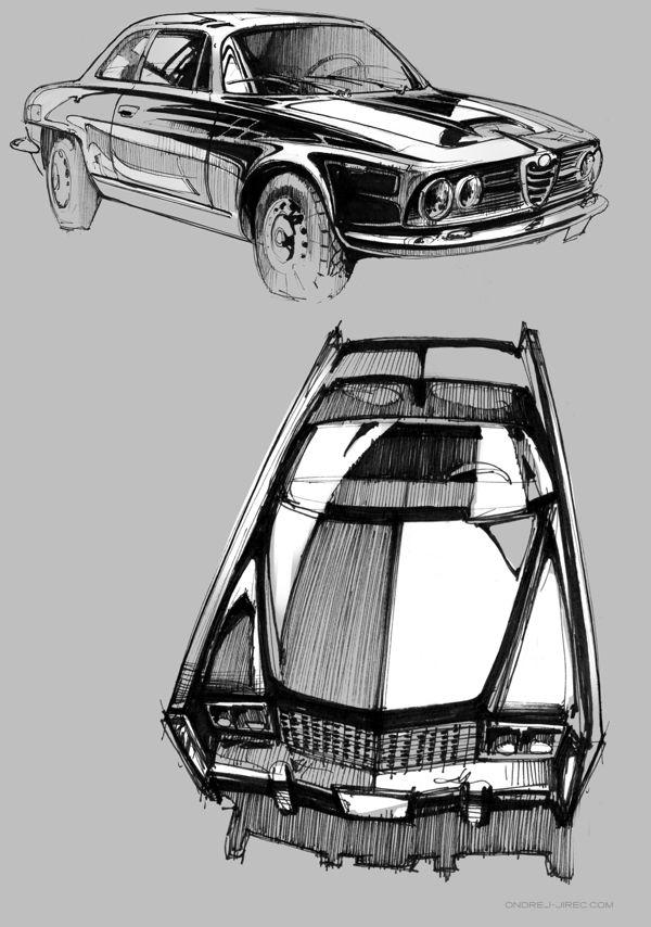 Sketchbook by Ondrej Jirec, via Behance