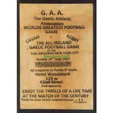 GAA Gaelic Football Cavan V Kerry New York City 1947