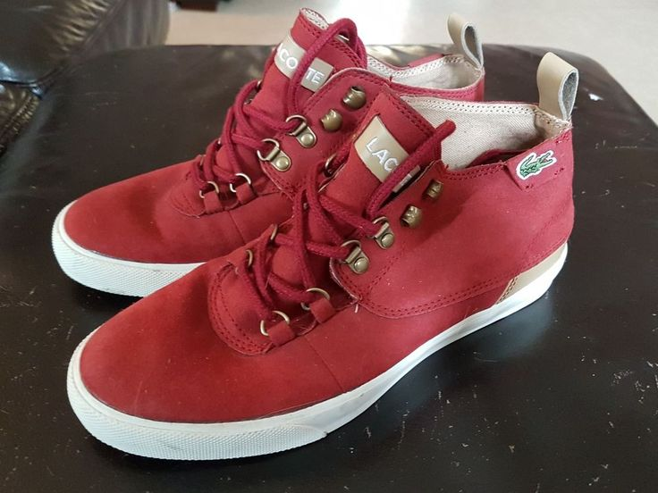 Maroon Lacoste High-Tops size 5UK  in Clothes, Shoes & Accessories, Women's Shoes, Trainers | eBay!